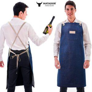 adjustable cotton apron denim-1