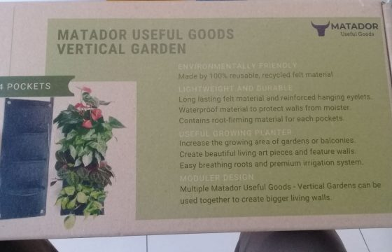 Garden vertical felt diy