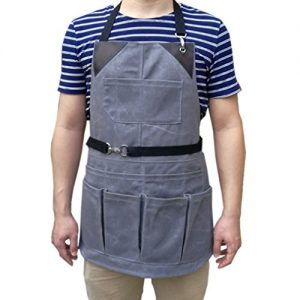 waxed-canvas-tool-apron-waterproof-multi-purpose-tactical-work-apron-garden-apron-with-brown-leather__516b3rbWa9L
